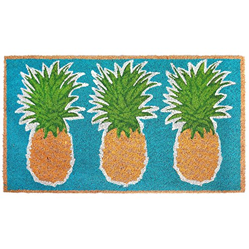 - Trans Ocean Coconut Area Rugs Liora Manne Natura Pineapples Indoor/Outdoor Mat Blue 18