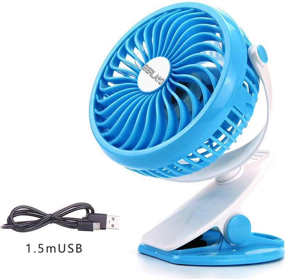 ZHANGYY Clip on Fan Battery Operated USB Fan Portable for Baby Stroller Office Computer Desk