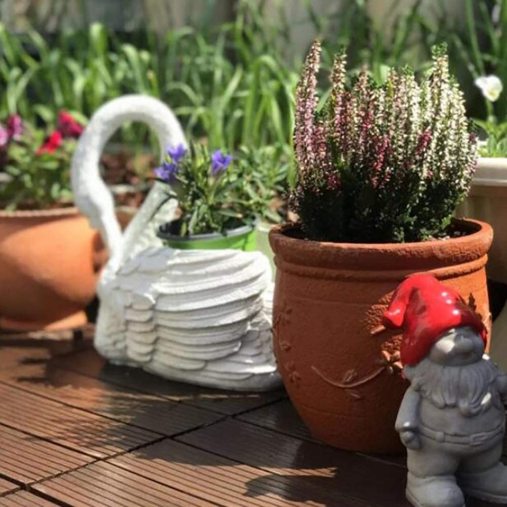 zenggp Pot De Fleurs /él/égant De Cygne De D/écoration /à La Maison De Jardin D/écoration Mat/érielle De R/ésine De Vitrine De Magasin