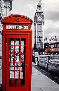لوحة كانفس ال اي دي مطبوعة - لندن، 60 * 90 سم 789