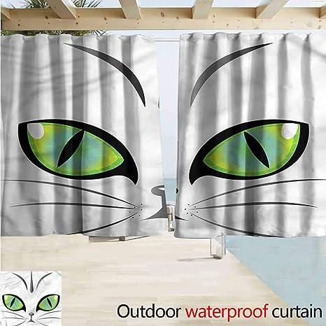 Amazon com : MaryMunger Window Curtains Eye Siberian Cat