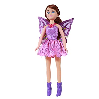 TychoTyke Girls Magical Fairy Princess Jumbo Doll Purple Dress: Toys & Games