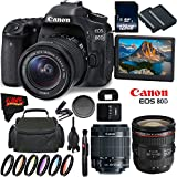 Canon EOS 80D DSLR Camera + 18-55mm Lens + Canon EF 24-70mm f/4L IS USM Lens + 128GB Memory Card International Version