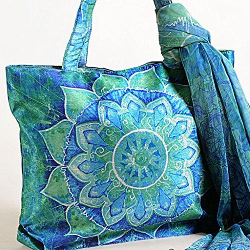 Bufanda Bolsos Multiusos Mujeres 16 Con Bolsas Pulgadas Azul Digital 11 Moda Compras Impresa Yuga X xqUYnFHwTU