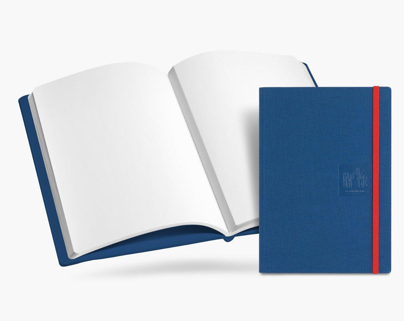 Caran d'Ache A5 Notebook lienzo en blanco Blu Cvr