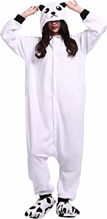 Pijama Animados Kigurumi Cosplay Oso Blanco Dibujos Animal para Adulto Unisex
