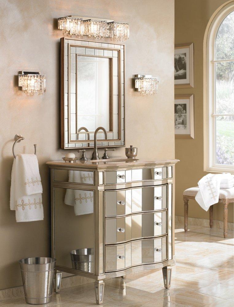 Possini Euro Design Crystal Strand 25 3 4 Wide Bath Light Vanity Lighting Fixtures Amazon Com