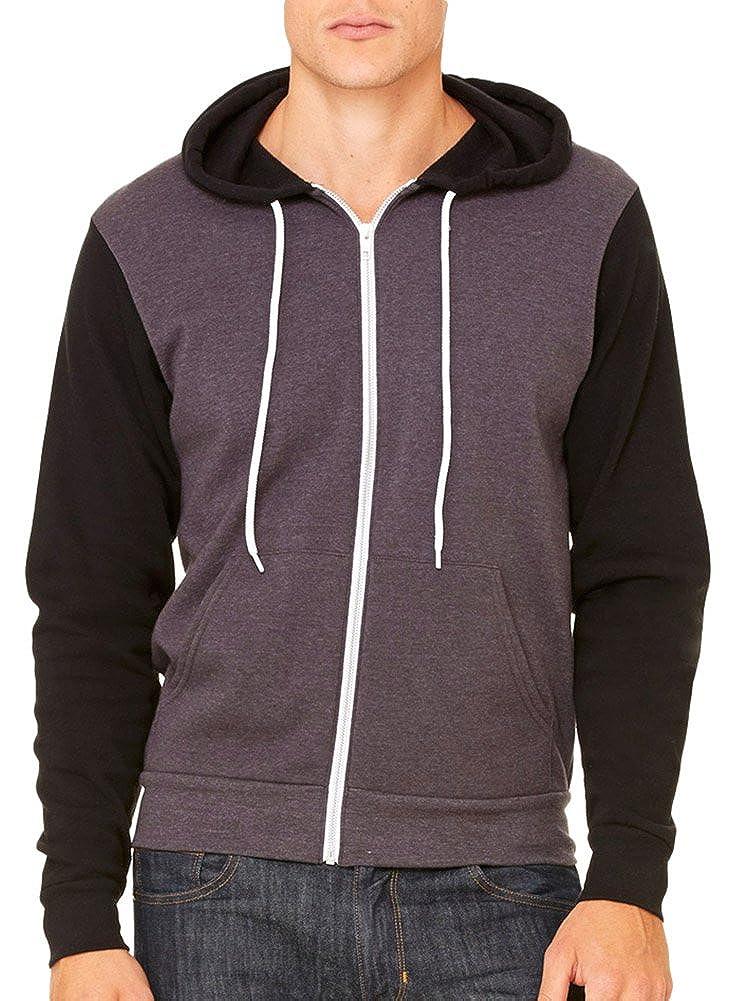 Canvas Bella Fashion Wht Cord Hooded Sweatshirt