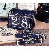 Vintage Black Perpetual Calendar