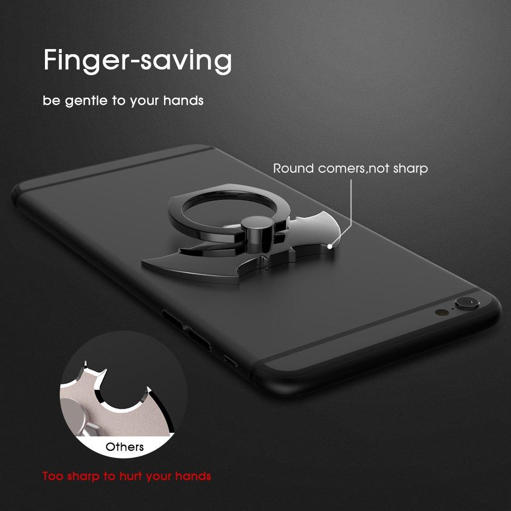 Cool Bat Phone Finger Ring Stand Holder Lamyik 360 Rotation Nok Handphone Universal Zinc Alloy Metal Grip For Smartphones Iphone 5 6 7 8 Plus