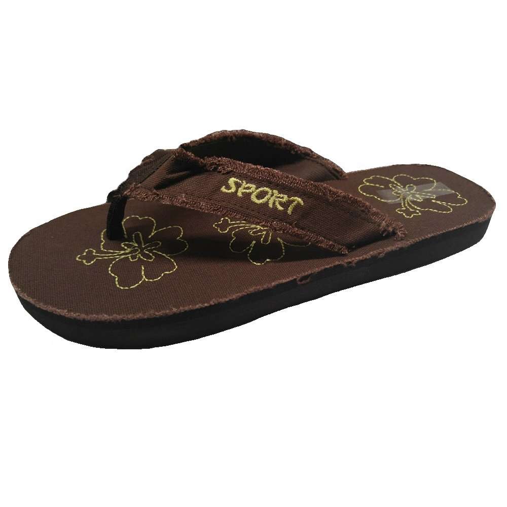 Womens Lightweight Canvas Thong Flip Flops Great for Summer Beach or Casual Everyday