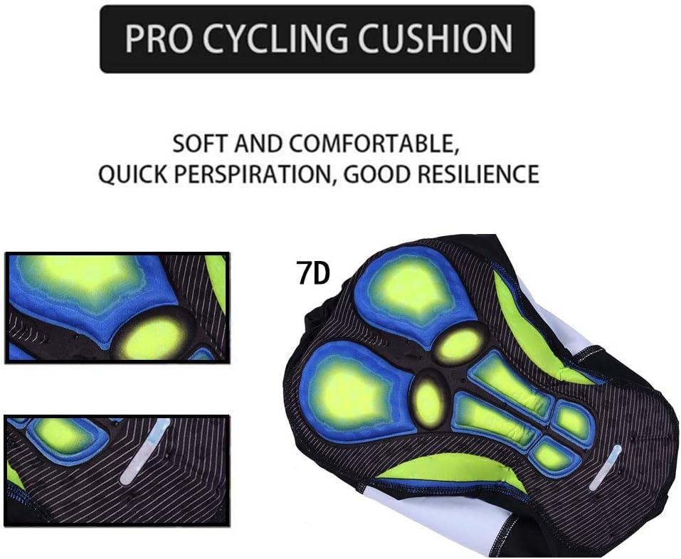 OJKYK Traje Ciclismo Hombre Maillot Manga Corta Y Culotte con 7D Gel Pad para Verano Deportes Al Aire Libre Ciclo Bicicleta