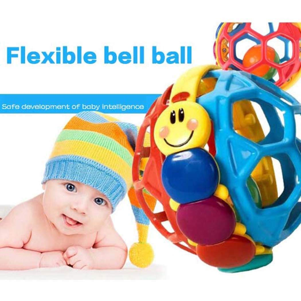 Meflying Baby Toddlers Fun Multicolor Bouncing Ball Rattle Toy Activity Educational Toys