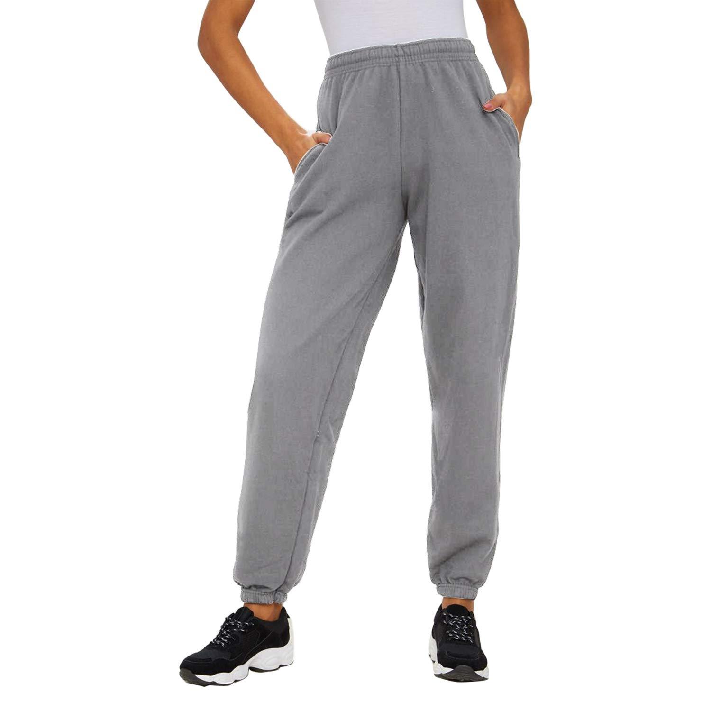 SEMIR Pantaloni da Jogging Atletici Casual da Donna con Coulisse in Vita Pantaloni della Tuta con Tasche