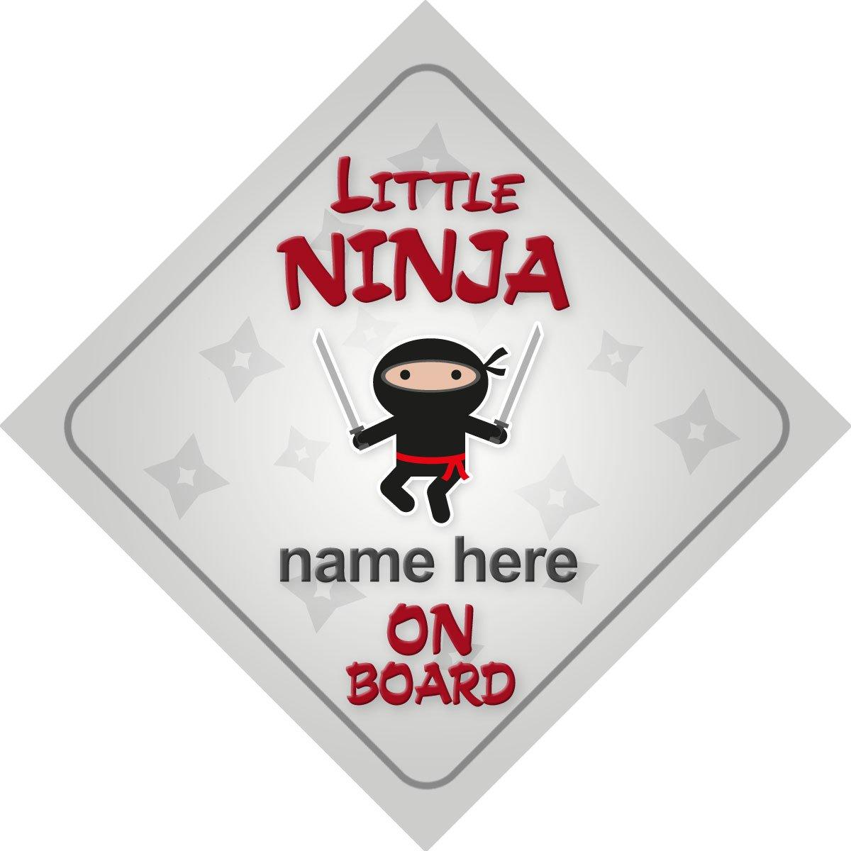 Little ninja Pancarte sur planche personnalisé Voiture Nouveau bébé/enfant cadeau/Cadeau