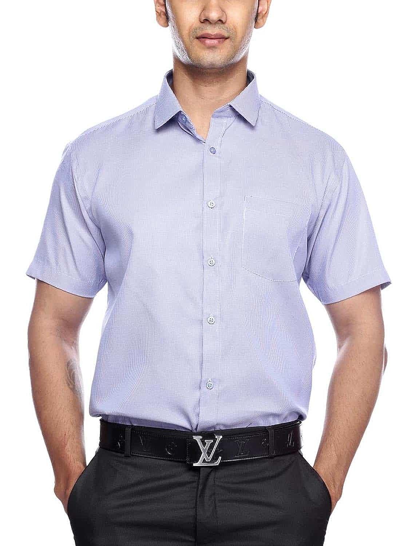 20f007b23a BLACKTIE Men Blue Checks Formal Shirt  Amazon.in  Clothing   Accessories