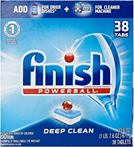 Finish - All in 1-38ct - Dishwasher Detergent - Powerball - Dishwashing Tablets - Dish Tabs - Deep Clean - Fresh Scent