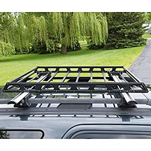 Rage Powersports RB-7206 Slim Low-Profile Car Roof Rack Camping Cargo Basket