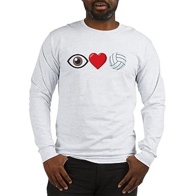13d2db3489e CafePress I Heart Volleyball Emoji Long Sleeve T Shirt Unisex Cotton Long  Sleeve T-Shirt