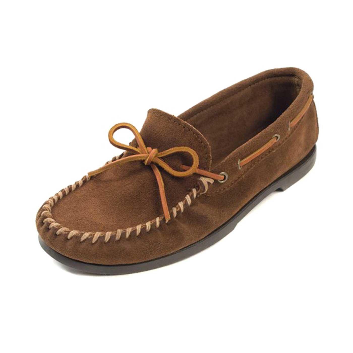 Minnetonka - Mocasines de Piel para Hombre, Color Marrón, Talla 48: Amazon.es: Zapatos y complementos