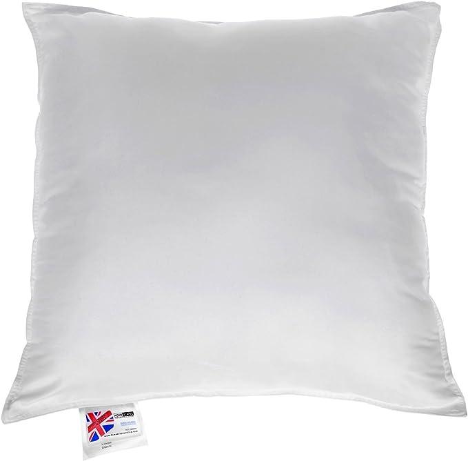 Textilhome Blanc Dimension 30x50 cm. 100/% Polyester 2 Coussins de Garnissage en Fibre creure