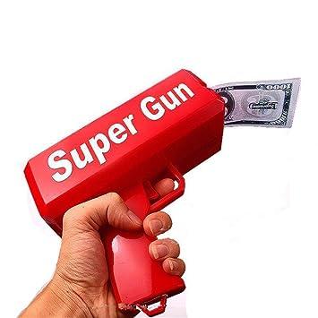 Pistola de dinero supremo pistola de juguete pistola de disparo difundir el dinero pistola de escupir dinero descompresión juguetes de la parodia: ...