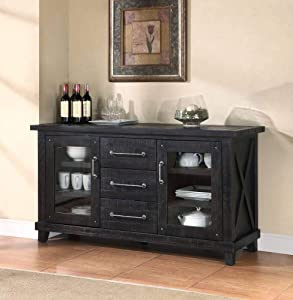 Modus Furniture Yosemite Solid Wood Sideboard, Cafe