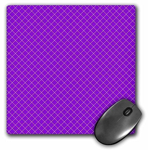 3dRose Janna Salak Designs - Hot Stuff Collection - Purple - Black Fishnet - MousePad ()