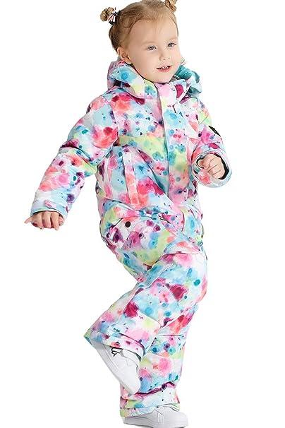 Amazon.com: Trajes de esquí para niñas de una pieza, traje ...