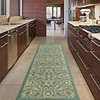 Diagona Designs ANN1096-3X10 Traditional Oriental Mahal Design 3 X 10 Area Rug, 27 x 910, Mahal Teal