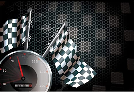 The Need For Speed Motorcycle Racing Chequered Flag Small Metal//Steel Wall Sign
