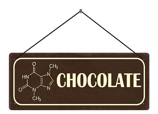 BlechschilderWelt Cartel de Chapa Chocolate (Placa marrón + ...