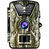 VicTsing Trail Camera, IP66 Waterproof Hunting Camera with 2.4'' LCD Screen,Fast Trigger Game Cam with PIR Sensor, Night Vision, Low Glow Tech for Wildlife Plant Observation, Securtiy