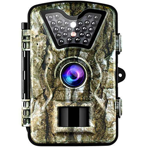 "VicTsing Trail Camera, IP66 Waterproof Hunting Camera with 2.4"" LCD Screen,Fast Trigger Game Cam with PIR Sensor, Night Vision, Low Glow Tech for Wildlife Plant Observation, Securtiy"