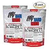 Hard Rhino L-Citrulline DL-Malate 2:1 Powder, 250 Grams by Hard Rhino