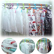 100pcs Clear Garment Covers Bags, Clothing Dust Cover for Dress, Suit, Cloth and Laundry, 23.6 x 35.4 Inch