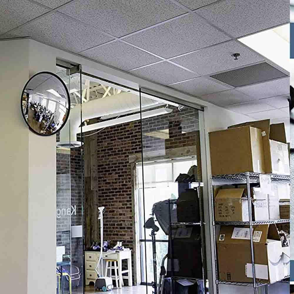 gr/ö/ße: 30 cm WYJW Verkehrs Spiegel Garage runde weitwinkel stra/ße Ecke Spiegel konkav Gebogene weitspiegel innen verkehrs Spiegel au/ßen j0407