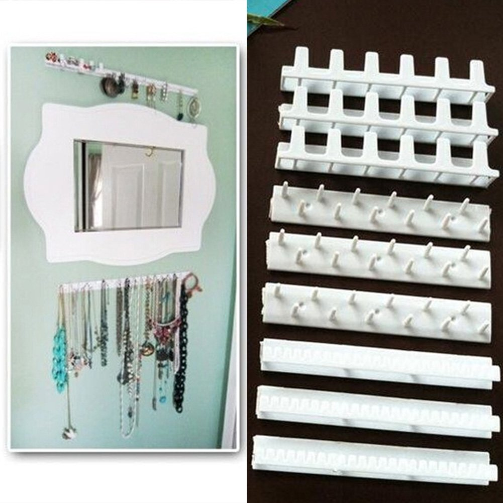 9-in-1 Self Adhesive Wall Hanging Hooks Jewelry Storage Organizer Necklace Hanger Store Accessories