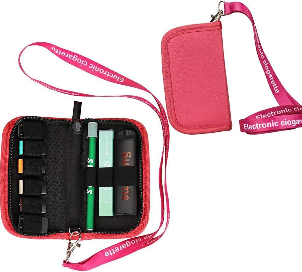 HWEIZU Juul lanyard maletín con bolsa Juul con 9 correas de almacenamiento (Rosado): Amazon.es: Salud y cuidado personal