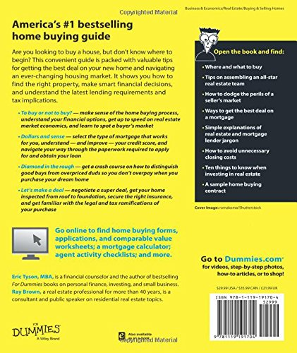 Home buying kit for dummies eric tyson ray brown 9781119191704 home buying kit for dummies eric tyson ray brown 9781119191704 amazon books fandeluxe Gallery