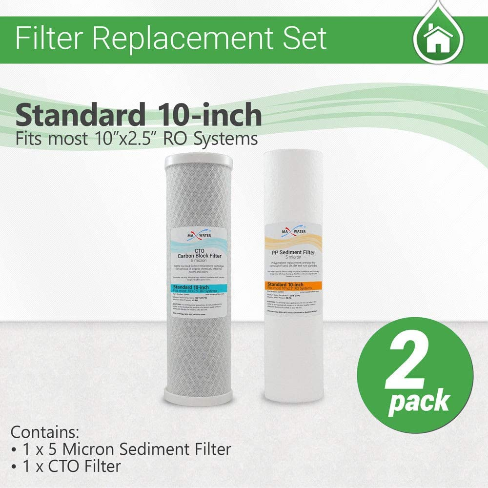 Sediment RO Max Water Reverse Osmosis Universal Water Filters Set CTO