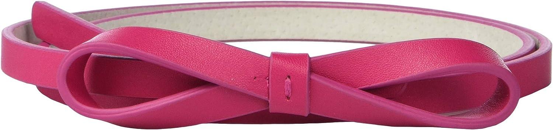 Lodis Accessories Womens Skinny High-Waist Bow Belt Fuchsia MD 33-35 Waist