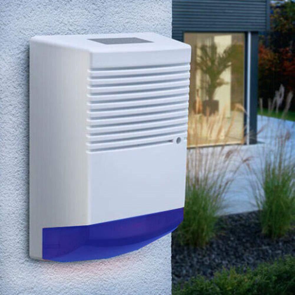 Coaste 12V Sound and Light Alarm, Solar Powered LED Light Burglar Alarm, for Home Villa Farm Hacienda Apartment Outdoor Yard