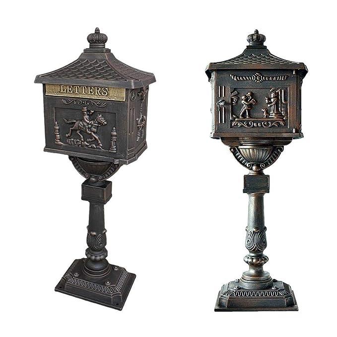 Amazon.com: Buzón estilo victoriano con pedestal. De ...