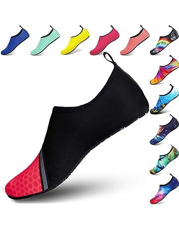 2a1977aa50f3c BIGU Zapatos de Agua Aqua Yoga para Mujer Hombre Niños Descalzo Piel  Calcetines de Buceo Natación