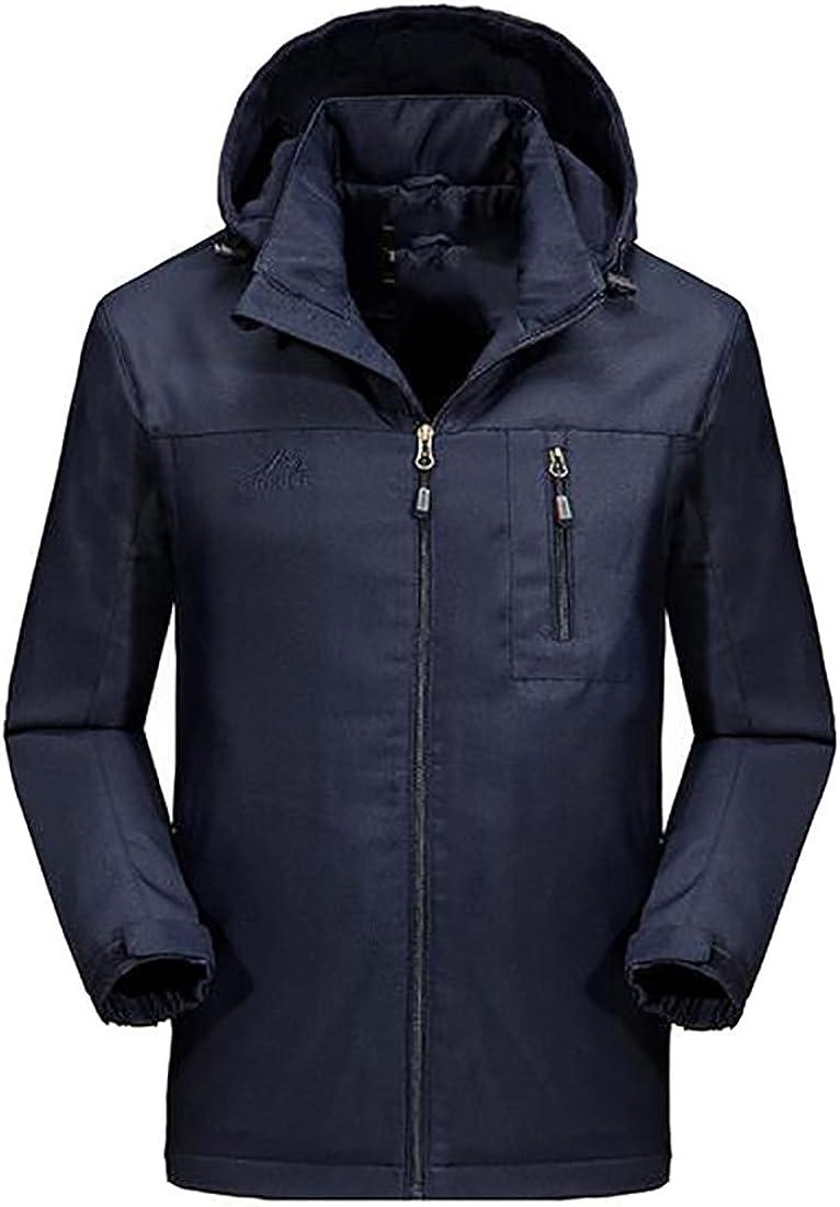 Jmwss QD Mens Outdoor Lightweight Hooded Windbreaker Rain Jacket