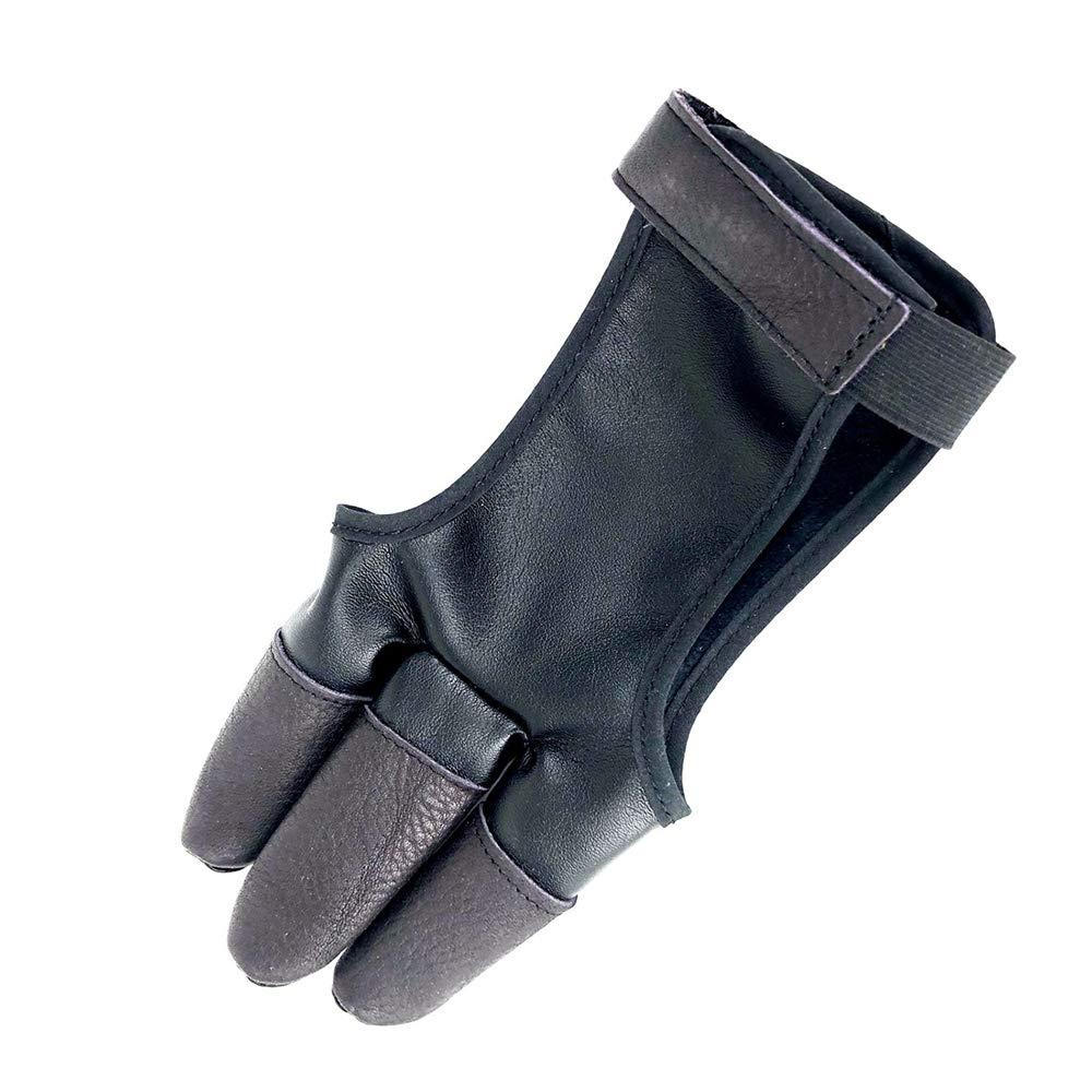 traditionelle Lange Bogen rechts Fingerschutz Singeru Bogenschie/ß-Handschuhe Linke Hand verstellbar traditioneller Schie/ßhandschuh passt f/ür die Jagd Leder