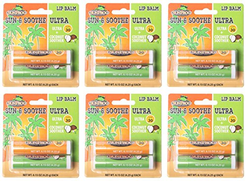 Royal SunFrog - Surfer's Choice | Sun & Soothe Lip Balm (6 Ultra Lip Balm SPF 30) & (6 Coconut Soother) - 12 total ()