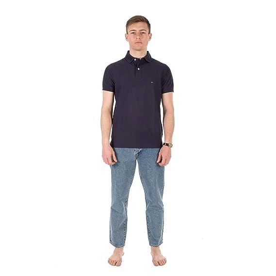 Tommy Hilfiger MW0MW09741 Polo Hombre Azul S: Amazon.es: Ropa y ...