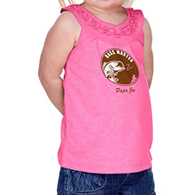 93e919beddbc40 Personalized Custom Bass Master Fishing Infant Girl Cotton Polyester Ruffle  Tank Yoke Tee - Hot